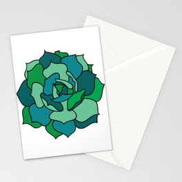 Shades of Succulent Stationery Cards