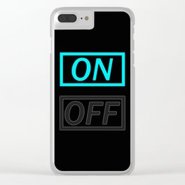 Light On Off Clear iPhone Case