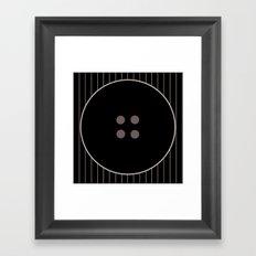 Button 3 Framed Art Print
