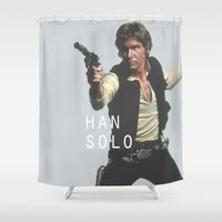 han solo Shower Curtains featuring Han Solo / Star / Wars by Earl of Grey