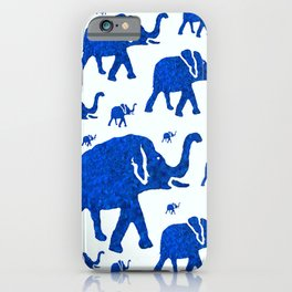 ELEPHANT BLUE MARCH iPhone Case