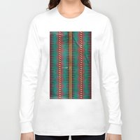 blanket Long Sleeve T-shirts featuring Geo Blanket by Emily Anne Thomas