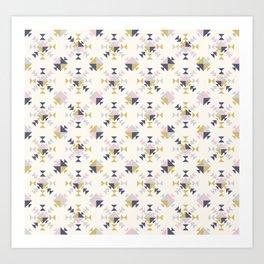 Modern Geometric Triangle Pattern Art Print