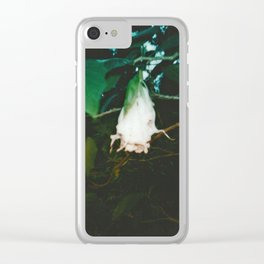 White Datura Clear iPhone Case