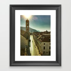 Sunrise over Old Dubrovnik Framed Art Print