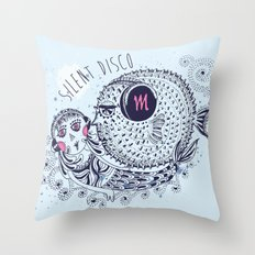 SILENT DISCO Throw Pillow