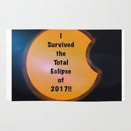 I Survived the Total Eclipse Rug