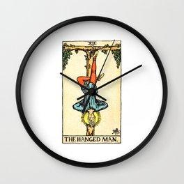 Vintage Tarot Card The Hanged Man Wall Clock