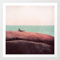 sleep Art Prints featuring sleep by Claudia Drossert