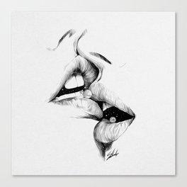 Universe kiss. Canvas Print