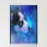 husky Stationery Cards featuring Husky by morgenleedahl