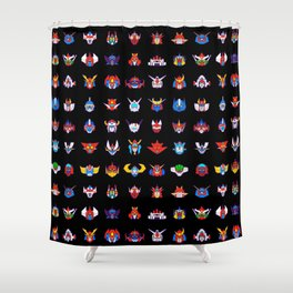 071b 70s Robots color Shower Curtain