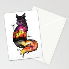 Galaxy Desert Fox Stationery Cards