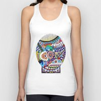 john snow Tank Tops featuring Snow Globe by JOHN RUSSELL ABSTRACTS