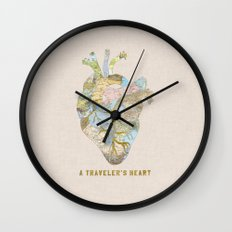 A Traveler's Heart Wall Clock