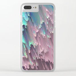 Iridescent Shadows Glitches Clear iPhone Case