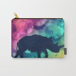 Pop Art Rhinoceros Carry-All Pouch