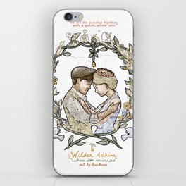 """White background illustration for video of song by Wilder Adkins, """"When I'm Married"""" iPhone Skin"""