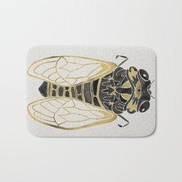 Cicada – Black & Gold Bath Mat