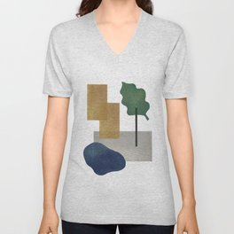Abstract organic forms 2 Unisex V-Neck