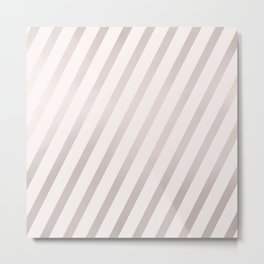 Rose Gold and Pink Diagonal Stripes Metal Print
