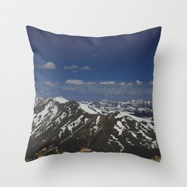 From the Top of the Rockies Throw Pillow