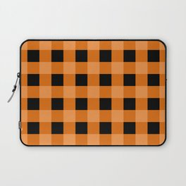 Orange and Black Buffalo Check Laptop Sleeve