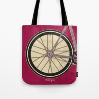 brompton Tote Bags featuring Single Speed Bicycle by Wyatt Design
