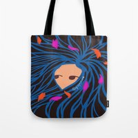 pocahontas Tote Bags featuring Pocahontas by Glopesfirestar