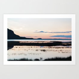 Sunset in Iceland - nature landscape Art Print
