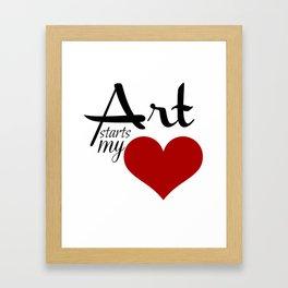 Art starts my (heart) Framed Art Print