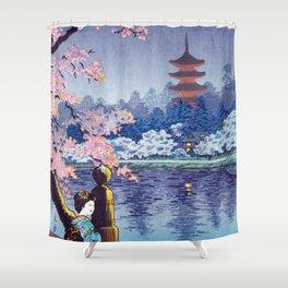 Nighttime Riverside  Shower Curtain