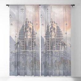 Gods of New Egypt Sheer Curtain