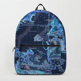 Star Atlas Vintage Constellation Map Pardies Plate 5 negative blue inverted Backpack
