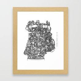DeLorean Flux Capacitor Framed Art Print