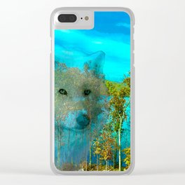 THE DAY OF THE WHITE WOLF Clear iPhone Case