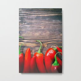 Red Hot Peppers Metal Print