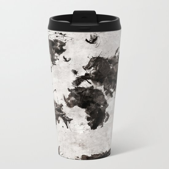 Wild World Metal Travel Mug