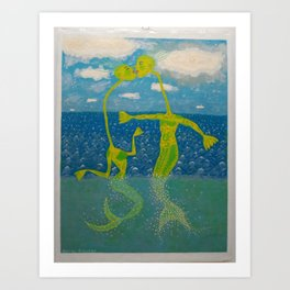 Romance in the Open Sea Art Print