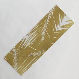 Palm Leaf Gold III Yoga Mat