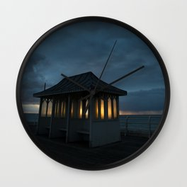 Cromer Pier Shelter at Dawn Wall Clock