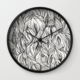 pussy power Wall Clock