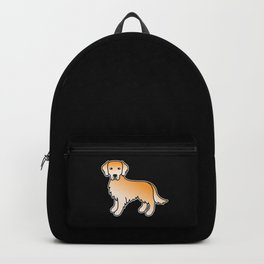 Yellow Golden Retriever Breed Dog Cute Cartoon Illustration Backpack