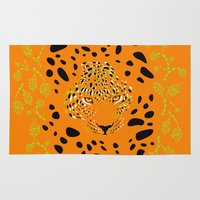 leopard Area & Throw Rugs featuring Leopard by Ornaart