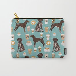 German Shorthaired Pointer Coffee Dogs - dogs and coffee, gsp, cute dog, pet, latte Carry-All Pouch