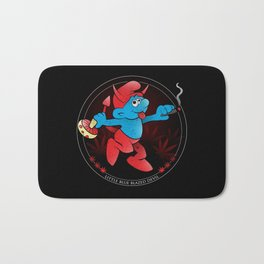 The Little Blue Blazed Devil Bath Mat