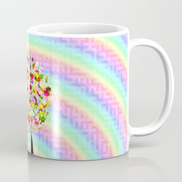 The little tree and the colorful spiral Coffee Mug
