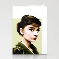 audrey hepburn Stationery Cards featuring Audrey Hepburn by Sophie Eves