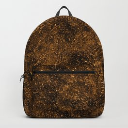 Gracious Golden Male Lion Glitter Particle Mane Head Profile Ultra HD Backpack