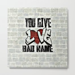 Graffiti Lyrics Metal Print